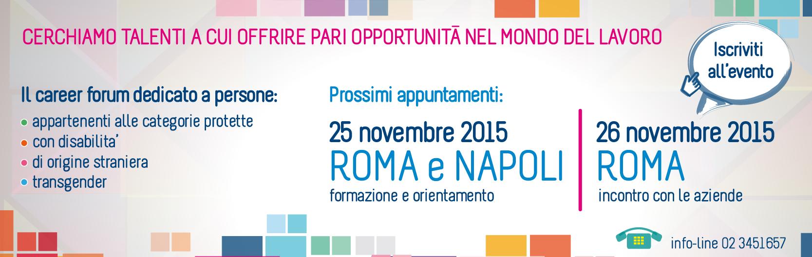 Diversitalavoro, career forum Roma e Napoli